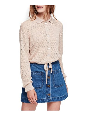 Free People betty tie front sweater