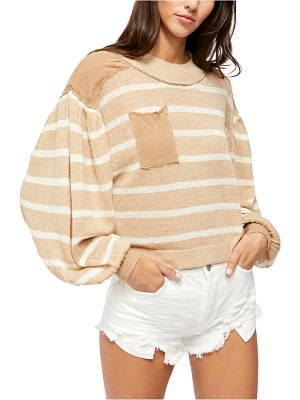 Free People between the lines stripe sweater