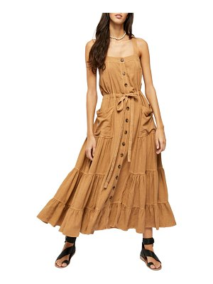 Free People catch the breeze button front dress