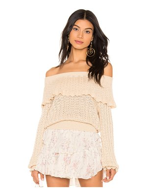 Free People Crazy In Love Ruffle Top