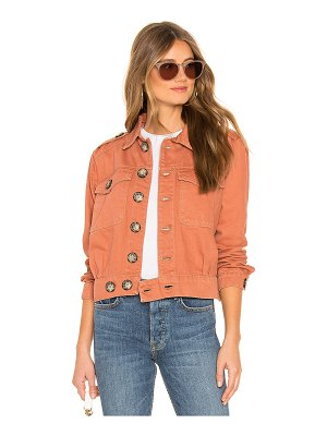Free People Denim Slouchy Eisenhower Jacket