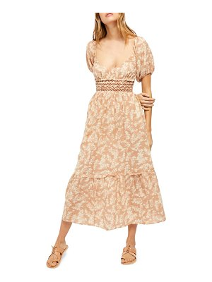 Free People ellie printed midi dress