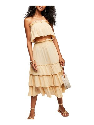 Free People endless summer by  sea breeze strapless crop top & midi skirt