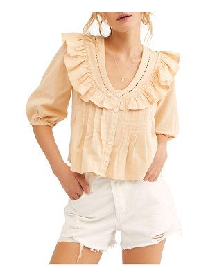 Free People endless summer by  sylvia cotton ruffle blouse