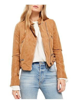 Free People fenix faux leather moto jacket