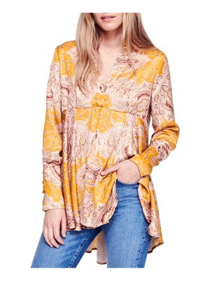 Free People field of butterflies swing back top