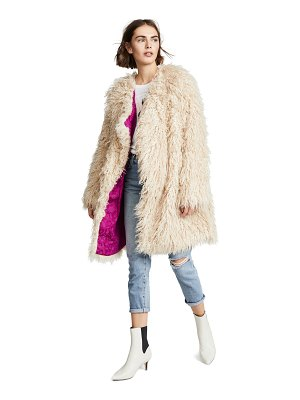 Free People florence faux fur coat