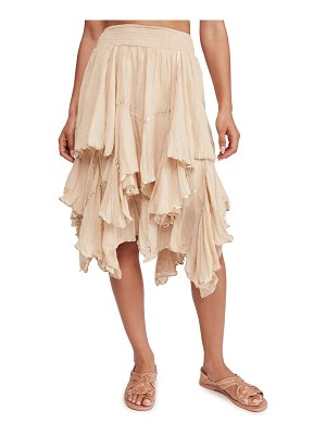 Free People handkerchief ruffle skirt