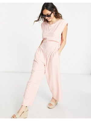 Free People heat wave relaxed jumpsuit in grapefruit-pink