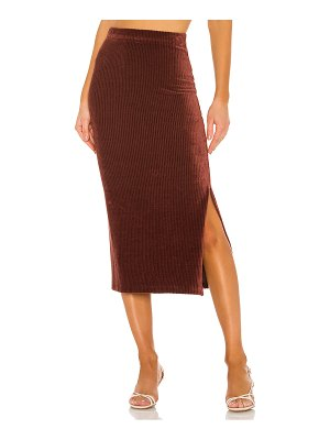 Free People helen rib tube skirt