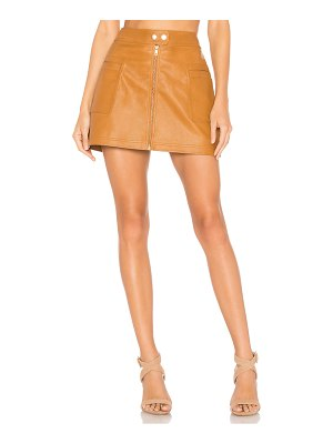 Free People high a line vegan leather skirt