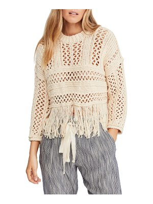 Free People higher love crochet sweater