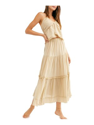 Free People kahlo halter top & maxi skirt