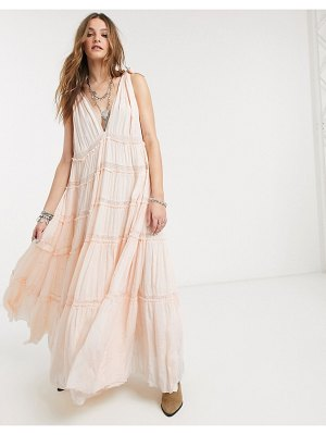 Free People lily of the valley tiered maxi dress-pink