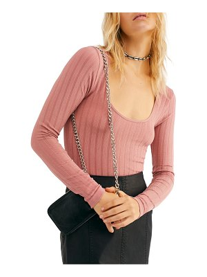 Free People lucky you scoop neck shirt