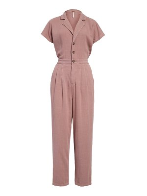 Free People margot short sleeve jumpsuit