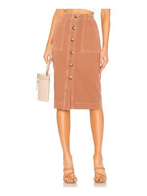 Free People Mid Length Utility Skirt