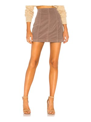 Free People Modern Femme Cord Mini Skirt