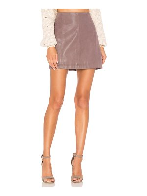 Free People Modern Femme Vegan Suede Mini Skirt