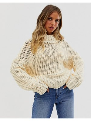 Free People my only sunshine chunky knit sweater-cream