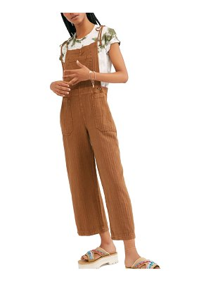 Free People natural sights overalls