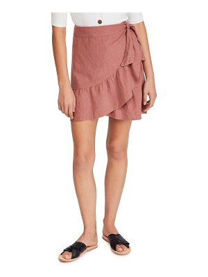Free People ruffle my feathers miniskirt