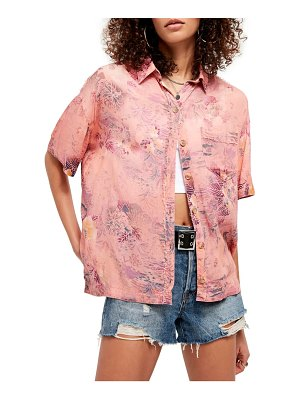 Free People share good vibes print shirt
