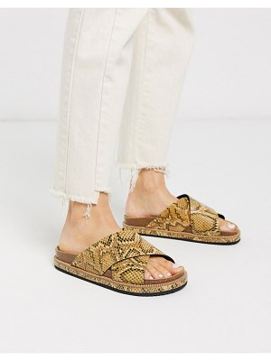 Free People sidelines snake sliders-brown