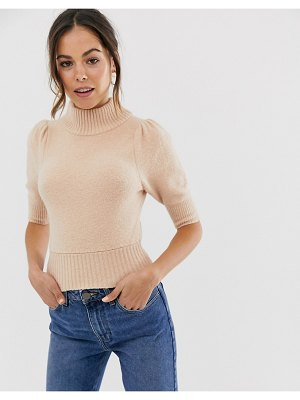 Free People sugar pie puff shoulder sweater-pink