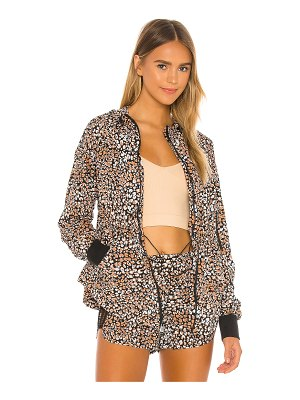 Free People x fp movement printed run wild jacket