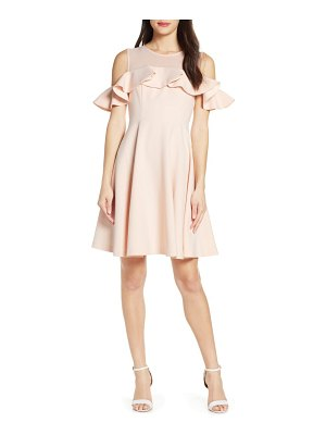 French Connection alissa cold shoulder fit & flare dress