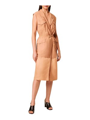 French Connection brekhna midi faux wrap shirtdress