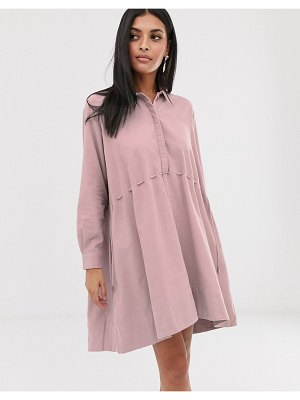 French Connection cord shirt dress-pink