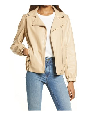 French Connection french connectioon asymmetrical faux leather moto jacket