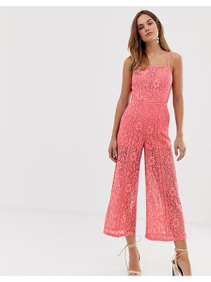French Connection helenie lace jumpsuit-pink