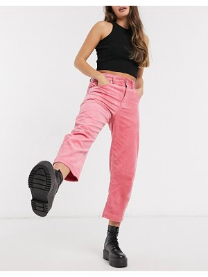 French Connection sori high-waist jumbo cord barrel pants in pink