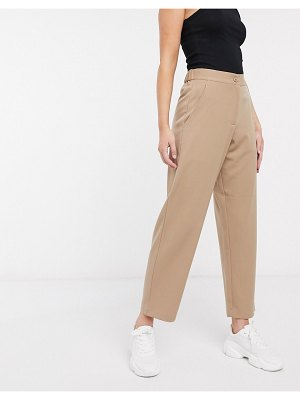 French Connection tapered pants in camel-brown