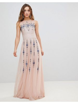 Frock And Frill Frock And Frill Premium All Over Embellished Maxi Dress