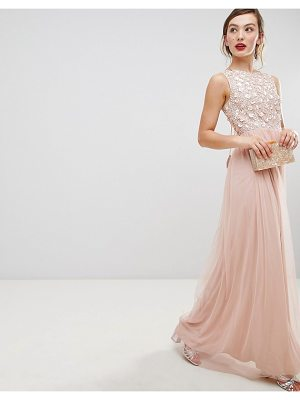 Frock And Frill Frock & Frill Tulle Maxi Dress With Embellished Upper