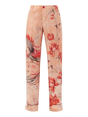 F.R.S - FOR RESTLESS SLEEPERS etere phoenix-print silk-satin trousers