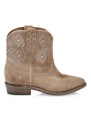 Frye billy studded suede short cowboy boots