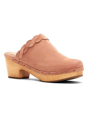 Frye Mille Braided Suede Mule Clogs