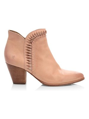Frye reed twisted leather ankle boots