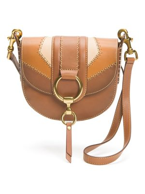 Frye small ilana colorblock leather saddle bag