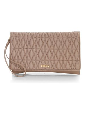 Furla extra large cometa leather envelope clutch
