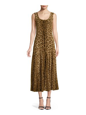 FUZZI Scoop-Neck Animal-Print Tank Dress