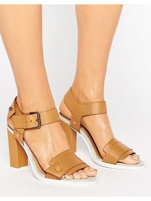 G-Star Claro Tan Leather Heeled Sandals