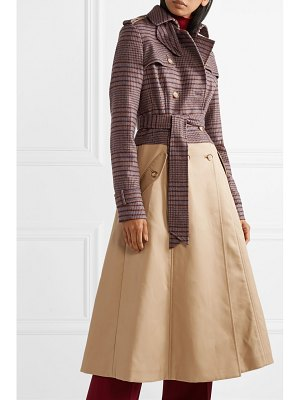 Gabriela Hearst armonia checked wool-blend and cotton-gabardine trench coat