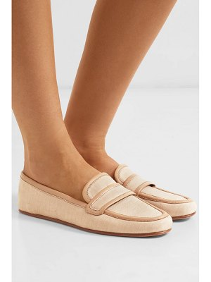 Gabriela Hearst brodie leather-trimmed linen loafers