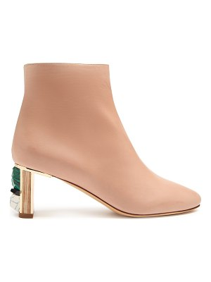 Gabriela Hearst Delaunay stone-embellished leather ankle boots
